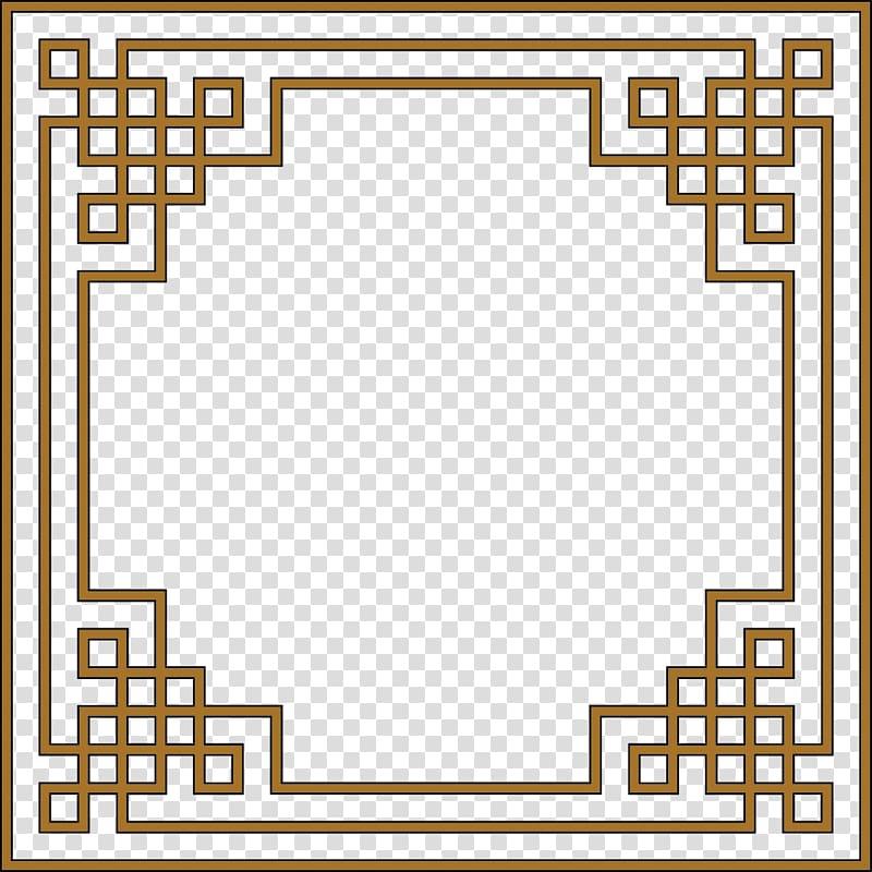 bingkai undangan geometri unik