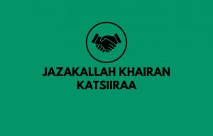 Arti Jazakallah Khairan Katsiiraa